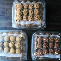 Protein bite recipes from the event this morning! Thank you for all the compliments, I'm so glad you all loved… Healthy Bars, Healthy Meal Prep, Healthy Sweets, Healthy Snacks, Kid Snacks, Healthy Recipes, Power Bites Recipe, Protein Bites, Whey Protein