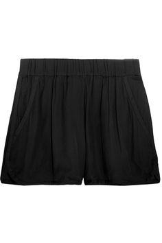 Étoile Isabel Marant|Bertille satin-trimmed crepe de chine shorts|NET-A-PORTER.COM