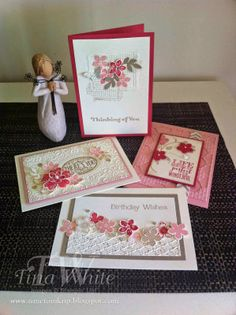 OMG look at these beautiful cards - like them all! Featuring Stampin Up products