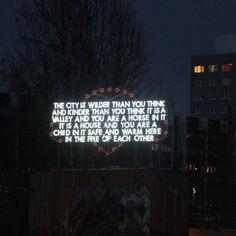 The City is Wilder than You Think..., by Robert Montgomery, in Berlin