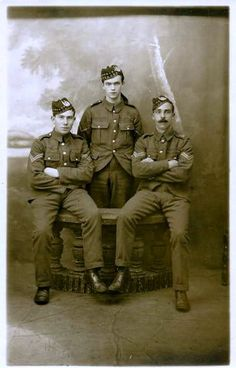 Three NCOs at Bedford 1914