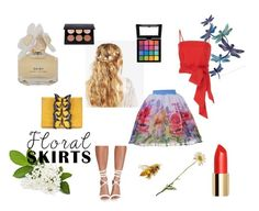 """""""Full Bloom"""" by rachelcarroll-i ❤ liked on Polyvore featuring ASOS, MDS Stripes, Missguided, Nancy Gonzalez, Marc by Marc Jacobs, NYX and Floralskirts"""