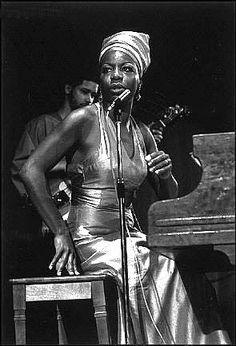 American singer, songwriter, pianist, arranger and civil rights activist Nina Simone.
