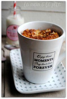 mug cake à la compote de pommes et de coings