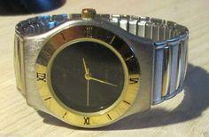 Bijoux Terner Men's 2-Tone Quartz Wrist Watch, New battery! K8512G #Terner #Fashion