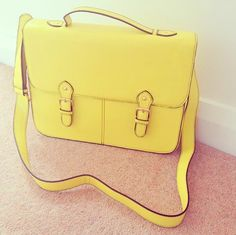 Image via We Heart It https://weheartit.com/entry/148885484 #bag #fashion #yellow
