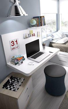 Dormitorio juvenil con zona de estudio (237 – J7) - Muebles CASANOVA