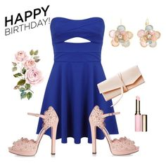 Happy birthday polyvore! by christina-geo on Polyvore featuring Miss Selfridge, Alexander McQueen, Mixit, Clarins, women's clothing, women's fashion, women, female, woman and misses