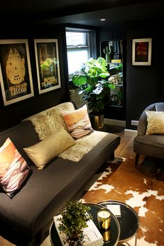 Man Cave to Glam Cave Reveal - Farrow & Ball Tanners Brown with eclectic boho glam design Home Decor Bedroom, Bedroom Wall, Diy Home Decor, Whiskey Barrel Decor, Woman Cave, Girl Cave, Farrow Ball, Decoration, Decorating Your Home