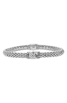 Free shipping and returns on LAGOS 'Embrace' Diamond Caviar Bracelet at Nordstrom.com. Sparkling diamonds trace the single station centering a beautiful bracelet comfortably fashioned with sterling silver Caviar beads.