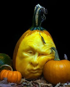 Amazing pumpkin carving from Ray Villafane (She Walks Softly)
