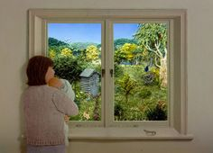 """Jeannie Baker's """"What do you see outside your bedroom window?"""""""