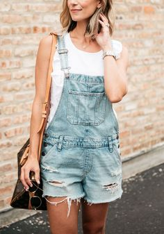 How To Wear Shortalls This Summer (Without Looking Like A Toddler) | my kind of sweet | summer style | outfit ideas | women's fashion | casual style | mom style | stay at home mom | mom blogger | make money from home | abercrombie | converse | louis vuitton speedy | j crew factory #fashion #style
