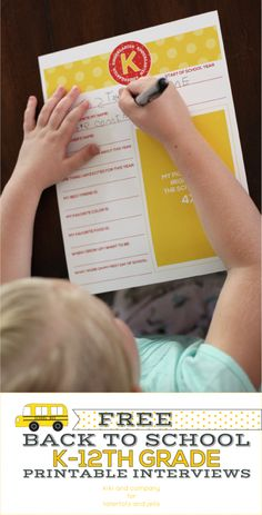 back to school questionaire that children will love
