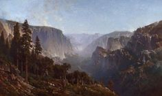 """""""Yosemite Valley  (From Below Sentinel Dome, as Seen from Artist's Point),"""" Thomas Hill, 1876, oil on canvas, 72 x 120"""", Oakland Museum of California."""