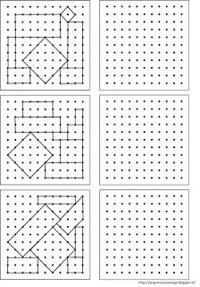 Remue Méninge: Reproduction de figures sur papier pointé Visual Perceptual Activities, Geometric Origami, Graph Paper Art, Vision Therapy, Montessori Math, Brain Gym, Coding For Kids, Busy Book, Preschool Worksheets
