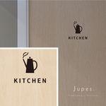 キッチン(KITCHEN)用 サインステッカー [黒]