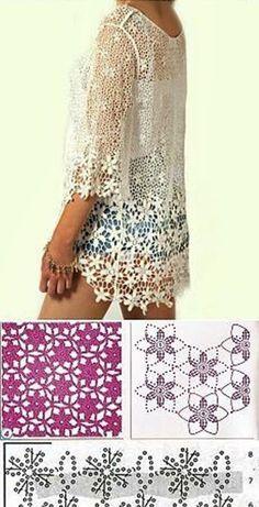 Crochet Bolero, Gilet Crochet, Cotton Crochet, Crochet Cardigan, Irish Crochet, Crochet Motif, Crochet Flowers, Crochet Lace, Crochet Stitches