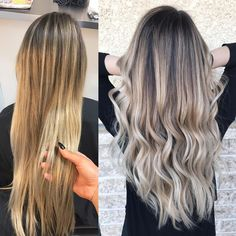 """184 Likes, 10 Comments - Samantha Thom (@samanthahairstylist) on Instagram: """"Before and after ✨... So much fun at the salon today! We took over @olaplex on Snapchat, and…"""""""