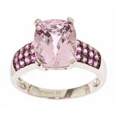 Kunzite and Pink Sapphire Ring