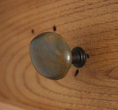 SET of 2 Knobs Very beautiful Dark Brown Jasper stone cabinet ...