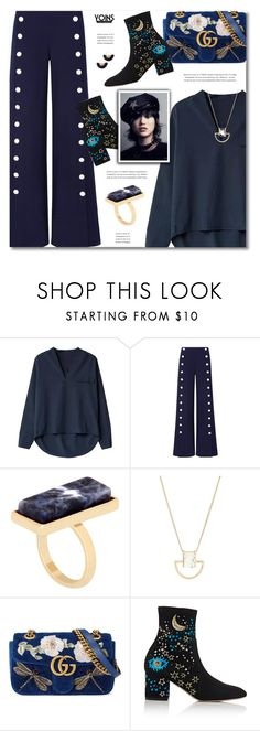 """""""YOINS"""" by defivirda ❤ liked on Polyvore featuring Tory Burch, Gucci, Valentino and Jardin"""