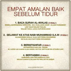 Sebelum tidur Quran Quotes Inspirational, Islamic Love Quotes, Muslim Quotes, Hijrah Islam, Doa Islam, Prayer Verses, Quran Verses, Reminder Quotes, Self Reminder