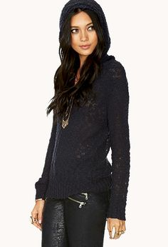 No Fuss Hooded Sweater | FOREVER21 - 2000108258.  Just wish this didn't have a hood.