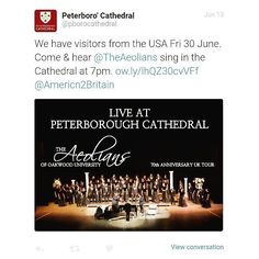 Thought it was cool that @peterborough_cathedral tweeted me!