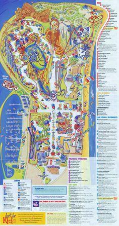 Cedar Point - 2010 Map Cedar Point Ohio, Theme Park Map, Disneyland Map, Planet Coaster, Amusement Park Rides, Carnival Rides, Parking Design, Map Design, Parc Attraction