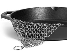 Hudson Essentials Cast Iron Cleaner XL 7x7 Premium Stainless Steel Chainmail Scrubber #kitchen #gadgets @bestbuy9432
