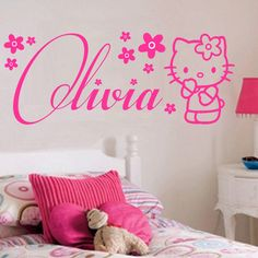 This would look great in my babygirls room. Personalized hellokitty name decals.