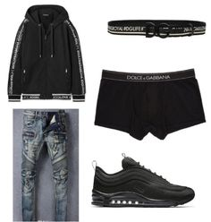 Dope Outfits For Guys, Swag Outfits Men, Nike Outfits, Trendy Outfits, Sneaker Outfits, Black Outfits, Teen Boy Fashion, Tomboy Fashion, Style Fashion