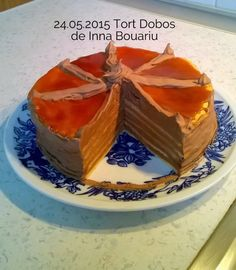"Tort Dobos reteta originala a lui Dobos Jozsef, creatorul acestuia. Dobos Torta este un ""Hungaricum"", un produs traditional unguresc, marca inregistrata, Eat Dessert First, Deserts, Pudding, Sweets, Traditional, Life, Food, Sweet Pastries, Goodies"
