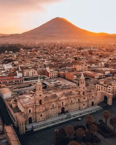 Surrounded by three volcanoes, Arequipa is the second most important city in Perú. Peru | Travel Destinations | Honeymoon | Backpack | Backpacking | Vacation | Wanderlust | Budget | Off the Beaten Path | South America #travel #honeymoon #vacation #backpacking #budgettravel #offthebeatenpath #bucketlist #wanderlust #Peru #SouthAmerica #explorePeru #visitPeru Bolivia Travel, Peru Travel, Solo Travel, Travel Trip, Tenerife, Peru History, Peru Vacation, South America Travel, Most Beautiful Cities
