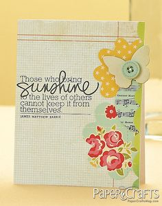 Sunshine Vertical Card by @Teri Anderson