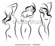 Three beautiful vector woman by BuketGvozdey, via ShutterStock