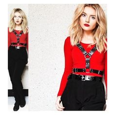 Perrie Edwards Red ❤ liked on Polyvore featuring little mix, perrie and perrie edwards