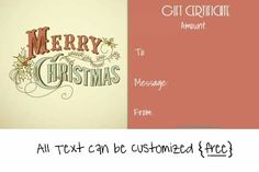 Get The Most Out Of Your Christmas Corporate Gifts – Gift Ideas Anywhere Free Printable Gift Certificates, Christmas Gift Certificate Template, Free Certificate Templates, Printable Thank You Cards, Christmas Card Template, Free Christmas Printables, Templates Printable Free, Christmas Gift Vouchers, Christmas Tree With Gifts