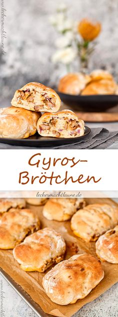 Gyros-Brötchen {frisch aus dem ofen Made fast and delicious: Gyros rolls! Gyros rolls {fresh auSpring rolls from the BFresh from the oven – Zwet Pizza Recipes, Appetizer Recipes, Snack Recipes, Cooking Recipes, Fast Recipes, Party Finger Foods, Snacks Für Party, Homemade Burgers, Dinner Rolls