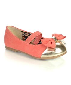 Take a look at this Coral Saroya Ballet Flat on zulily today!