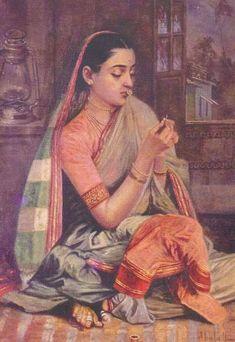 Maharashtrian Woman painting