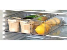 Open Stackable Fridge Storage Bin Clear