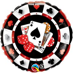 Qualatex 18 Inch Round Casino Poker Cards Design Foil Balloon for sale online Casino Party Decorations, Casino Theme Parties, Casino Royale, Las Vegas, Party Warehouse, Casino Costumes, Casino Night Food, Poker Party, Poker Night