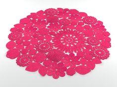 Inspiration :: Mixed motif rug - cute!  (no pattern) #crochet