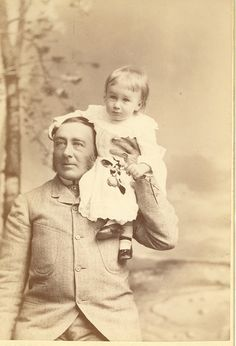 FDR with his father James Roosevelt. FDR is sixteen months old in this photograph, born during the Gilded Age  c.1883. 47-96 124 by FDR Presidential Library  Museum, via Flickr