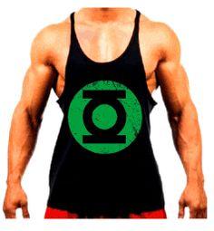 Conheça a Camiseta Regata Super Cavada Musculação Lanterna Verde Modelo  Masculina - Cor Preta - 20 3e35f27673e