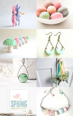 sweet & springy pastels--Pinned with TreasuryPin.com #handmade #easter #spring