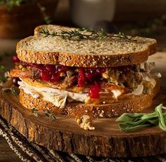 Homemade Leftover Thanksgiving Sandwich by brenthofacker IFTTT turkey autumn bakery bread bun cheese chicken cold cranberry delicious dinner dressing Frugal Meals, Easy Meals, Sweet Recipes, Real Food Recipes, Food Tips, Ideas Sándwich, Perfect Turkey, Leftovers Recipes, Turkey Recipes