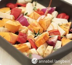 Annabel Langbein - Maple Roasted Vegetables. Its handy to have a repertoire of interesting dishes like this one up your sleeve! http://www.annabel-langbein.com/